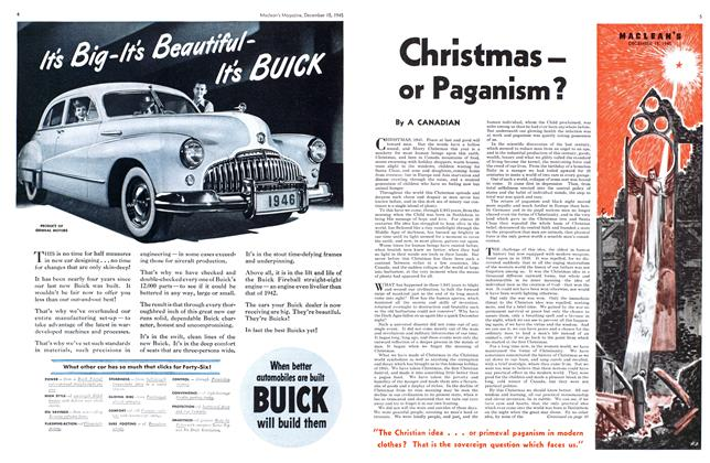 Article Preview: Christmas — or Paganism?, December 1945 | Maclean's