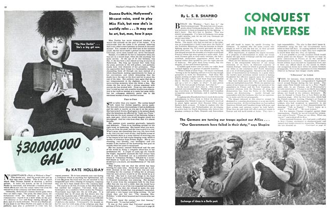 Article Preview: CONQUEST IN REVERSE, December 1945 | Maclean's
