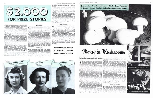 Article Preview: Money in Mushrooms, January 1946 | Maclean's