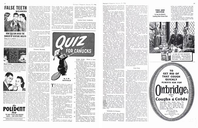 Article Preview: QUIZ FOR CANUCKS, January 1946 | Maclean's