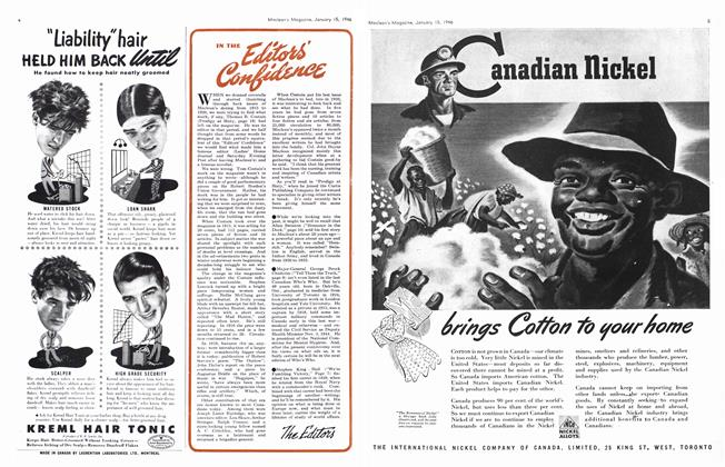 Article Preview: IN THE Editor's Confidence, January 1946 | Maclean's