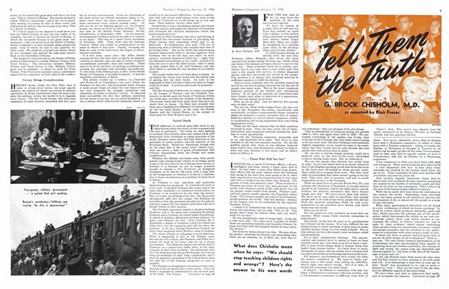 Article Preview: Tell Them the Truth, January 1946 | Maclean's
