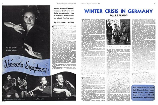 Article Preview: WINTER CRISIS IN GERMANY, February 1946 | Maclean's