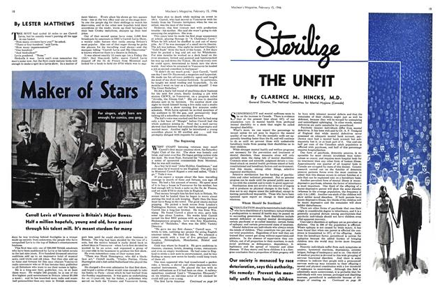 Article Preview: Sterilize THE UNFIT, February 1946 | Maclean's