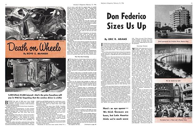 Article Preview: Death on Wheels, February 1946 | Maclean's