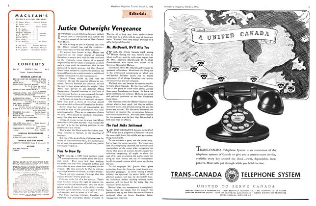 Article Preview: Justice Outweighs Vengeance, March 1946 | Maclean's