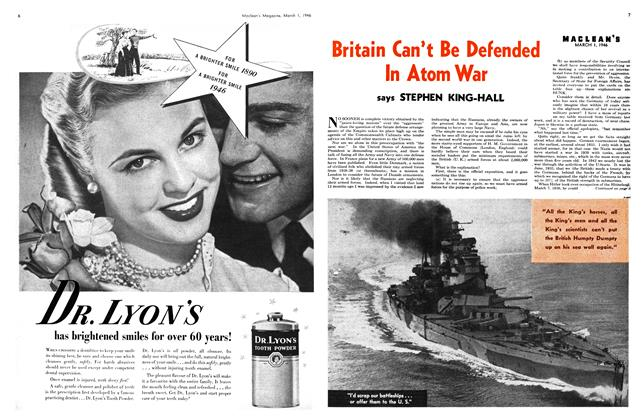 Article Preview: Britain Can't Be Defended In Atom War, March 1946 | Maclean's