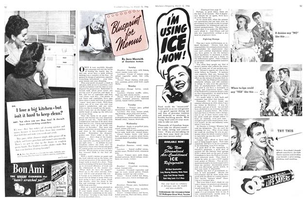 Article Preview: Bluprint for Menus, March 1946 | Maclean's