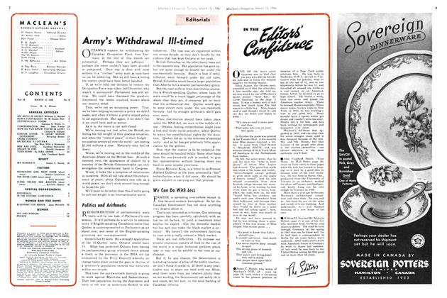 Article Preview: IN THE Editor's Confidence, March 1946 | Maclean's