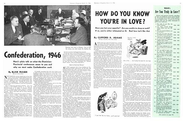 Article Preview: HOW DO YOU KNOW YOU'RE IN LOVE?, March 1946 | Maclean's