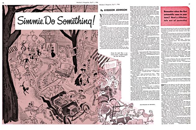Article Preview: Simmie, Do Something!, April 1946 | Maclean's