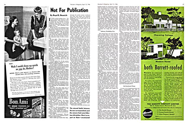 Article Preview: Not For Publication, April 1946 | Maclean's