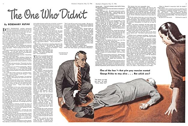 Article Preview: The One Who Didn't, May 1946   Maclean's
