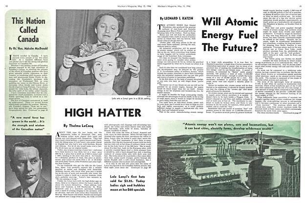 Article Preview: Will Atomic Energy Fuel The Future?, May 1946 | Maclean's