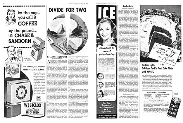 Article Preview: DIVIDE FOR TWO, May 1946 | Maclean's