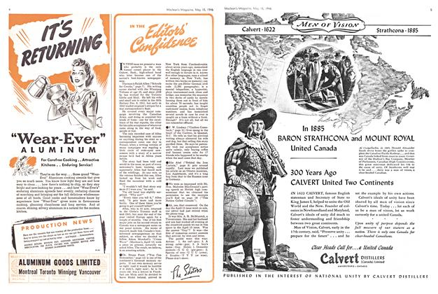 Article Preview: IN THE Editor's Confidence, May 1946 | Maclean's