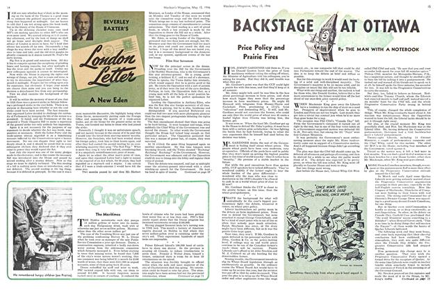 Article Preview: BACKSTAGE AT OTTAWA, May 1946 | Maclean's