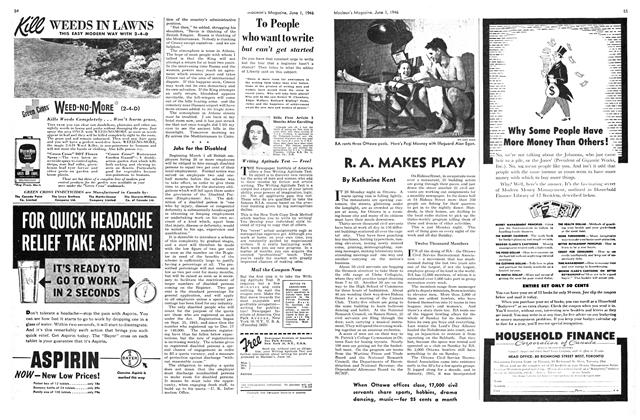 Article Preview: R. A. MAKES PLAY, June 1946 | Maclean's