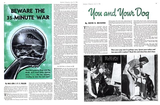 Article Preview: BEWARE THE 35-MINUTE WAR, June 1946 | Maclean's