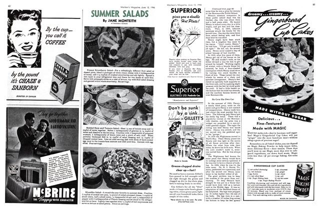Article Preview: SUMMER SALADS, June 1946 | Maclean's