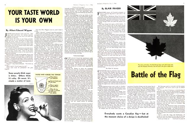 Article Preview: YOUR TASTE WORLD IS YOUR OWN, July 1946 | Maclean's
