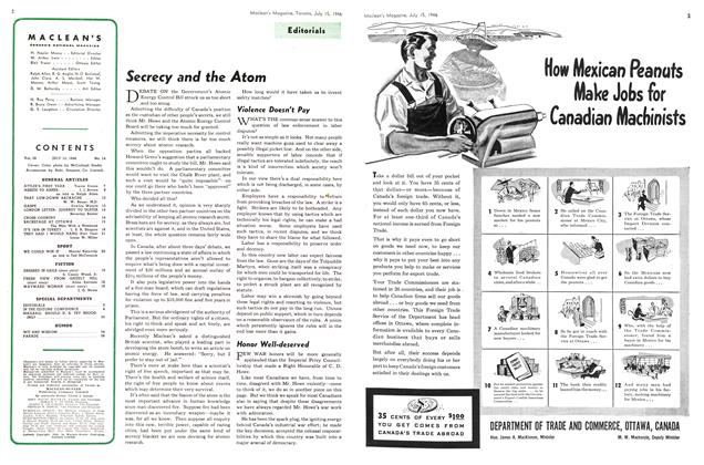 Article Preview: Secrecy and the Atom, July 1946 | Maclean's