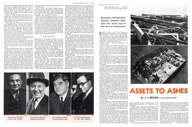 Article Preview: ASSETS TO ASHES, July 1946 | Maclean's