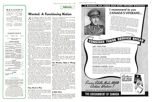 Article Preview: Wanted: A Functioning Nation, August 1946 | Maclean's