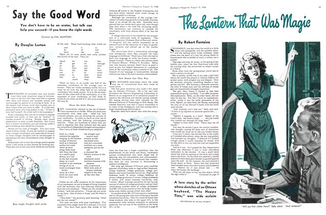 Article Preview: Say the Good Word, August 1946 | Maclean's