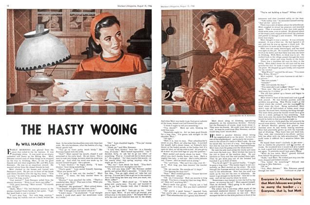 Article Preview: THE HASTY WOOING, August 1946 | Maclean's