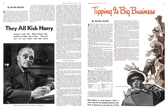 Article Preview: They All Kick Harry, August 1946 | Maclean's