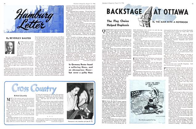 Article Preview: BACKSTAGE AT OTTAWA, August 1946 | Maclean's