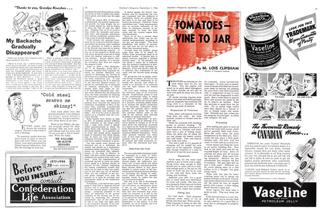Article Preview: TOMATOES— VINE TO JAR, September 1946 | Maclean's