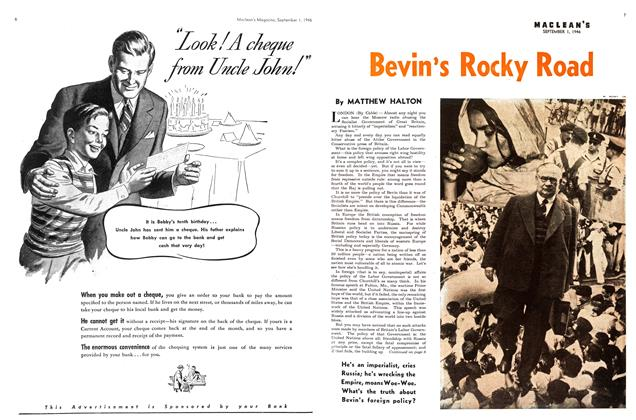 Article Preview: Bevin's Rocky Road, September 1946 | Maclean's