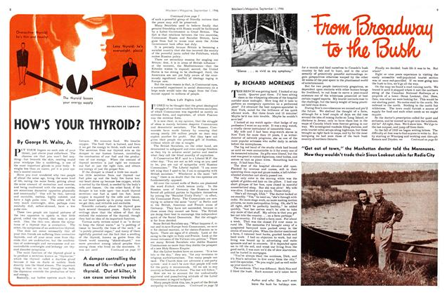 Article Preview: From Broadway to the Bush, September 1946 | Maclean's