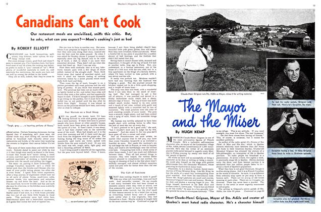 Article Preview: Canadians Can't Cook, September 1946 | Maclean's