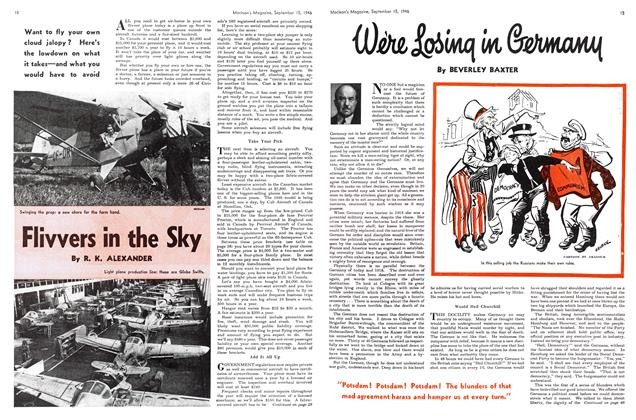 Article Preview: Were Losing in Germany, September 1946 | Maclean's