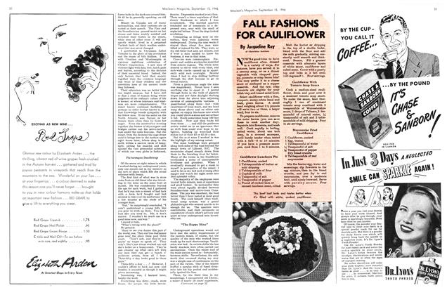 Article Preview: FALL FASHIONS FOR CAULIFLOWER, September 1946 | Maclean's
