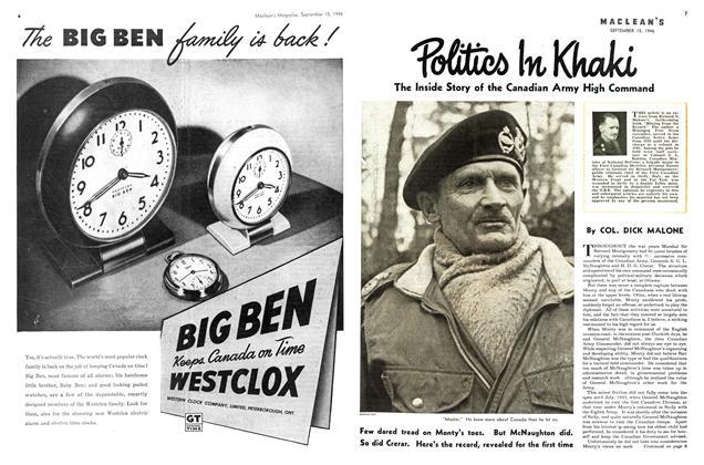 Article Preview: Politics In Khaki, September 1946   Maclean's