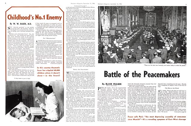Article Preview: Battle of the Peacemakers, September 1946 | Maclean's