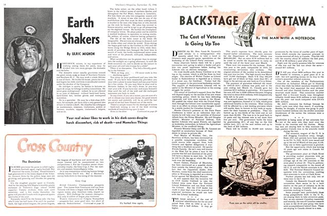 Article Preview: Earth Shakers, September 1946 | Maclean's