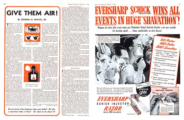 Article Preview: GIVE THEM AIR!, October 1946 | Maclean's