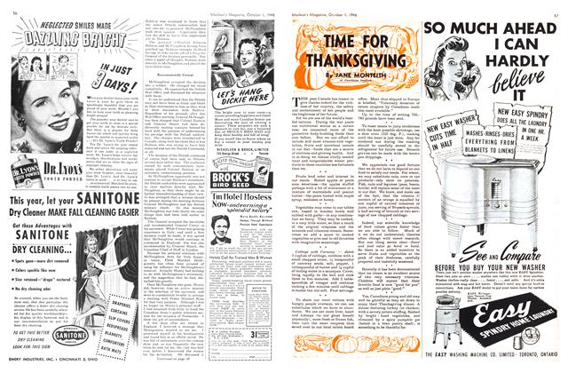 Article Preview: TIME FOR THANKSGIVING, October 1946 | Maclean's