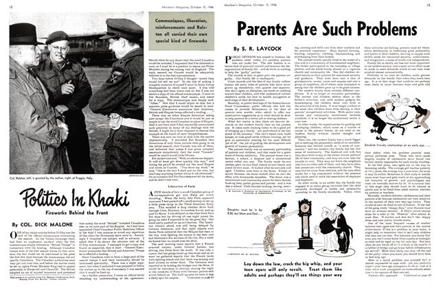 Article Preview: Politics In Khaki, October 1946 | Maclean's