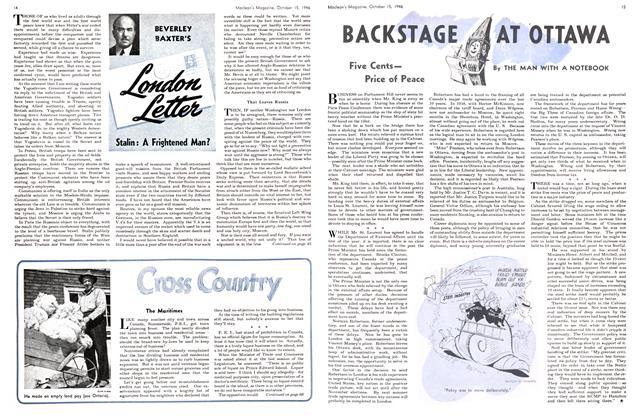 Article Preview: BACKSTAGE AT OTTAWA, October 1946 | Maclean's