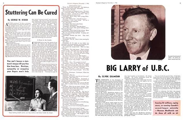 Article Preview: BIG LARRY of U.B.C., November 1946 | Maclean's