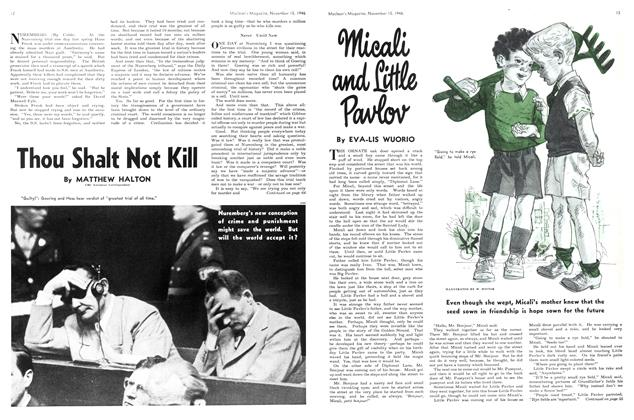 Article Preview: Thou Shalt Not Kill, November 1946 | Maclean's