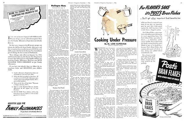 Article Preview: Cooking Under Pressure, December 1946   Maclean's