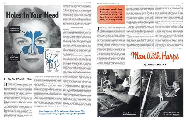Article Preview: Holes In Your Head, December 1946 | Maclean's