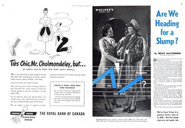 Article Preview: Are We Heading for a Slump?, January 1947 | Maclean's